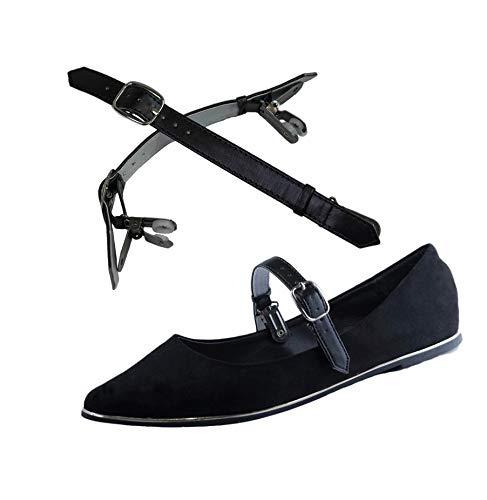 Befestigen hochhackigen Zum Klammer ShooStraps Abnehmbare Schuhen May von Schuhbander Schwarz Eliza Doppelt qI0xXZA