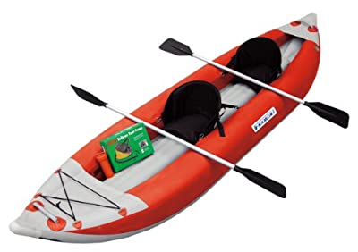 MK-1205R Maxxon Two Man Red 12ft 5in Self-Bailer Inflatable Kayak