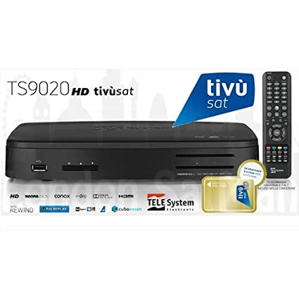 Tivusat HD twin tuner decoder and smart card USB PVR ready certified  Italian satellite TV receiver  UK stock