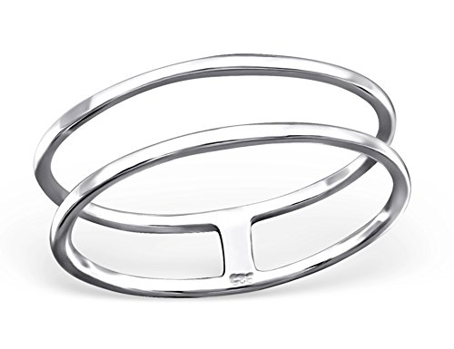 Best Wing Jewelry .925 Sterling Silver''Line'' Ring (5) by Best Wing Ring