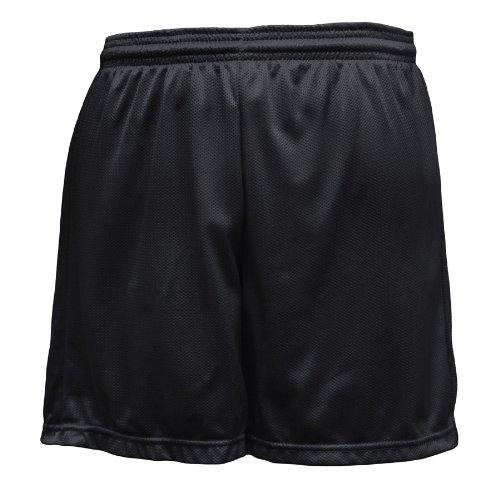 Soffe Men's Nylon Mini-Mesh Fitness Short Black  Medium
