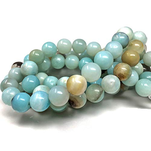 Chengmu 8mm Mix Color Amazonite Beads Natural Gem Round Loose Beads for Jewelry Making for Bracelet Necklace