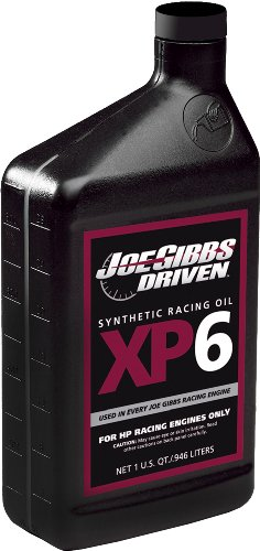 Joe Gibbs Driven Racing Oil 01007 XP6 15W-50 Synthetic Racing Motor Oil - 1 Quart Bottle, Case of 12