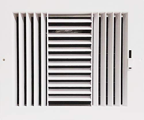 HBW Three-Way Plastic Side Wall/Ceiling Register in White 10