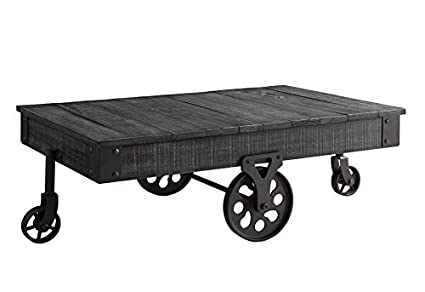 Genial Coaster Company Coffee Table, Rustic Grey
