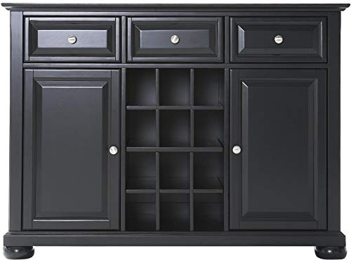(Crosley Furniture Alexandria Wine Buffet / Sideboard - Black)
