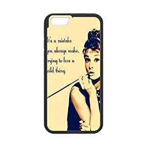 Audrey Hepburn Quotes New Fashion DIY Phone Case for Iphoneiphone 6 4.7,customized cover case ygtg-781781