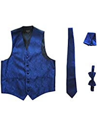 Men's 4pc Set Paisley Tuxedo Vest Vest / Tie / Hanky / Bow Tie