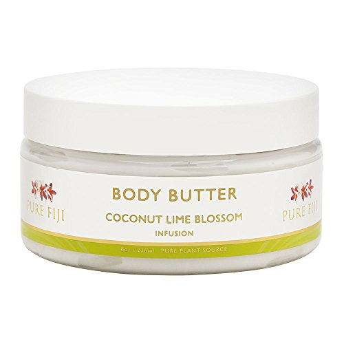 Blossom Body Butter - Pure Fiji Body Butter, Coconut Lime Blossom, 8 Ounce