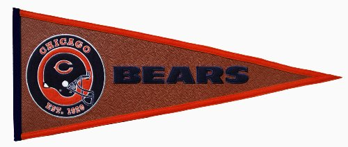 Chicago Bears Pigskin Pennant by Winning Streak