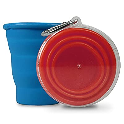 Life Gear Collapsible Silicon Cup for Camping or Traveling, 8 oz, Multi Color