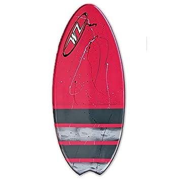 Wave Zone Fish – 48 Fiberglass Fishtail Skimboard – Red
