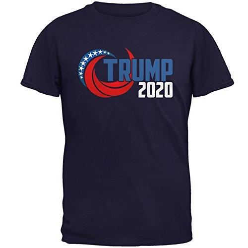Election RE-Elect Donald Trump 2020 Swoosh Mens T Shirt Navy LG (T-shirt Swoosh Mens)