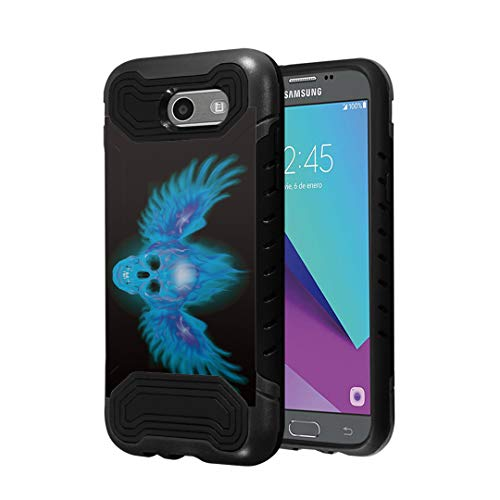 (Capsule Case Compatible with Samsung Galaxy J7 Prime, J7 Perx, J7 Sky Pro, J7 V, Galaxy Halo [Quantum Dual Layer Slim Case Black] for Galaxy J7 SM-J727 Year 2017 -)