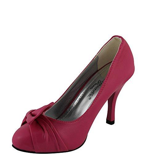 Unbekannt - Zapatos de vestir de Material Sintético para mujer 36 Rosa