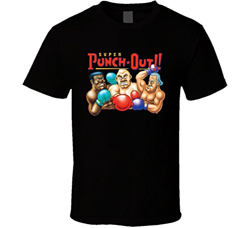 Super Punch Out Boxing Snes Video Game T Shirt 2XL Black