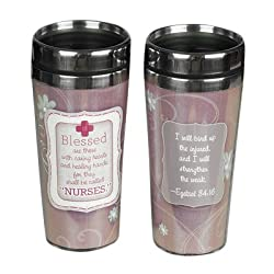 Abbey Press Nurse Travel Tumbler - Inspiration Faith Blessing Spirit