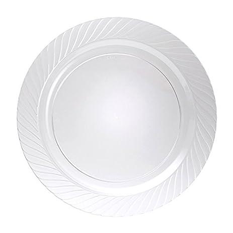 WNA Opulence 8 Count Round Plastic Plates 10\u0026quot; ...  sc 1 st  Amazon.com & Amazon.com: WNA Opulence 8 Count Round Plastic Plates 10\