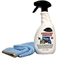 Screen Cleaner/Protector Spray by Ultima-Perfect for Plasma TV, LCD, LED, Computer & Laptop Monitors, Kindle, iPhones, iPads, Eyeglasses & All Touchscreen and Plastic Surfaces-Eco-Friendly-22 FL oz.