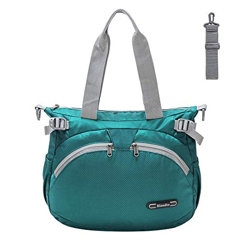 (R LANDTO Lightweight Crossbody Shoulder Bag Waterproof Nylon Gym Sports Tote Bag for Women, Adjustable Straps)
