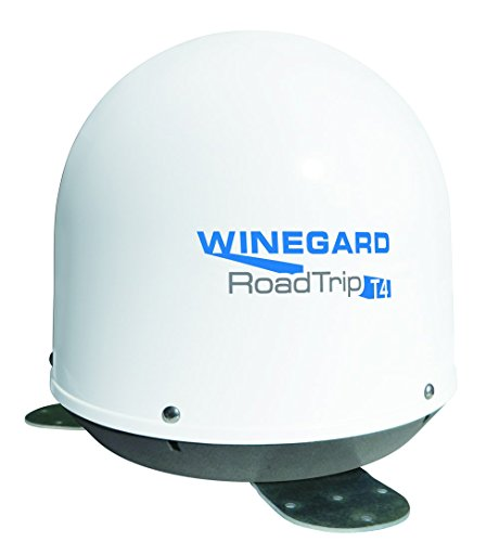 Winegard RT2000T RoadTrip T4 In-Motion RV Satellite Dish (DISH, DIRECTV, BellTV) - Fully Automatic RV Satellite Antenna, White by Winegard