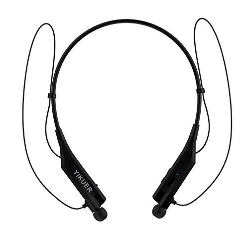 Bluetooth Headphones V4.1 Vibrating Call Alert Wireless Neckband Headset Stereo Earphones w/Microphone (black) By Best shop 2016