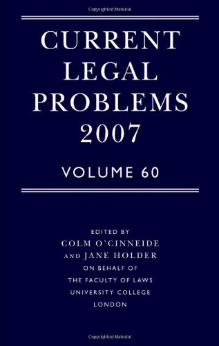 Current Legal Problems 2007: Volume 60