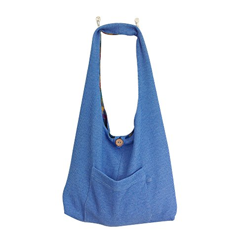 Shoulder Tote Bag with Pockets for Travel- Reversible Lightweight  Durable – Quality Handmade for Lasting Service  Enjoyment