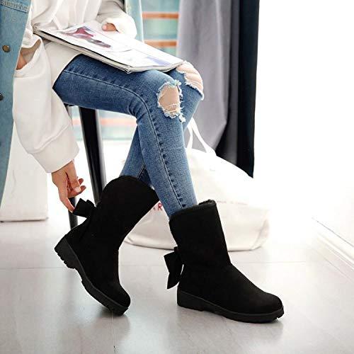 Shukun Stiefeletten Herbst und Winter Dicke Sohlen Stiefel Damen Stiefel Stiefel Stiefel mit Mode Stiefel Damen Martin Stiefel 60f4a4