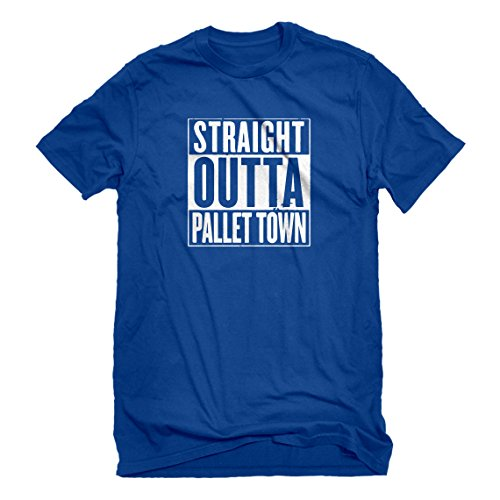 Indica Plateau Mens Straight Outta Pallet Town Large Royal Blue T-Shirt