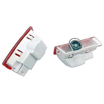 Juego de 2 luces para puerta del coche con proyecci/ón de logo iluminaci/ón de acceso al veh/ículo proyecci/ón de luz de bienvenida EOVVIO
