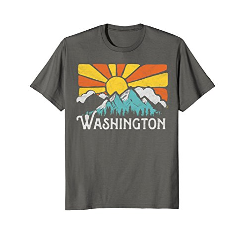 - Washington Retro Mountains & Sun Eighties Vintage Shirt