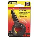 Scotch Super 33+ Vinyl Electrical Tape w/Dispenser, 1/2'' x 200'' Roll, Black