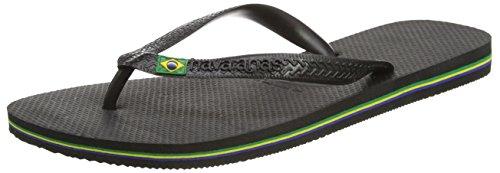 Havaianas Women's Brazil Sandal Flip Flop, black, 37 BR/7/8 W - Black Brazil Havaianas