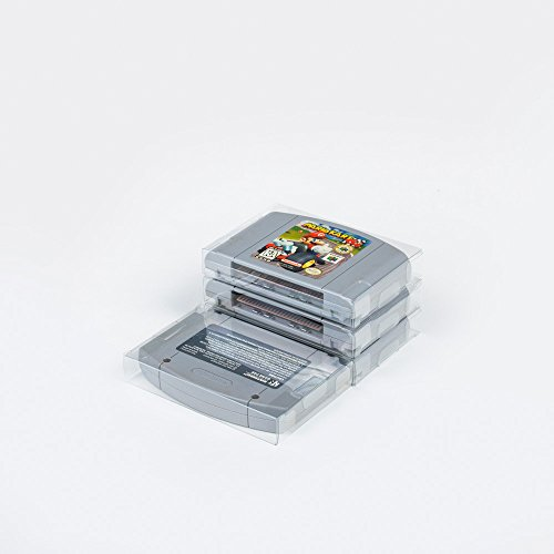 25 Mario Retro N64 Clear Plastic Protectors sleeve - Megaman For Super Nintendo