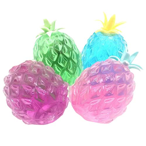 Gbell  Simple Squeeze Toysfor Girls,Funny Transparent and Slick Pinch Decompression Venting Novelty Pineapple Slow Rising Squeeze Toy Best Gift for Kids Boys -