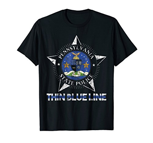 State Police Pennsylvania Shirt PA State Trooper Shirt (Highway Patrol Police Patch)