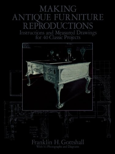 Making Antique Furniture Reproductions: Instructions and Measured Drawings for 40 Classic Projects (Dover Woodworking)