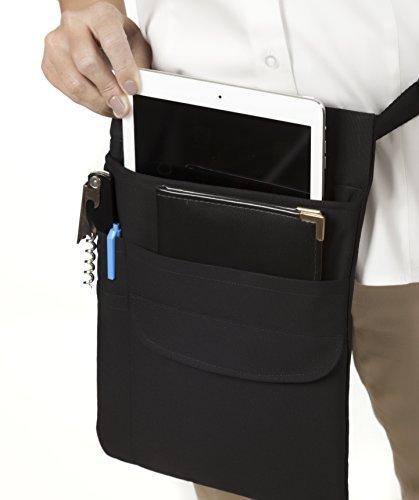 Black Tablet / iPad -Tablet Belt Holster Pouch With Adjustable Web Belt