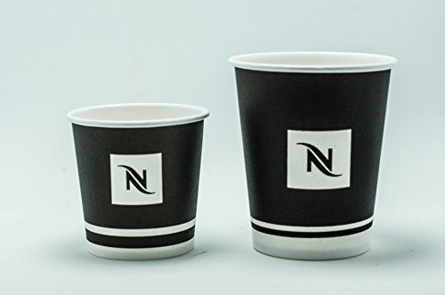 Nespresso Disposable Paper Cups Set (100-Count) . Includes 50 Cups 6oz 175ml & 50 Cups 4oz 100ml.Perfect For Espresso,Cappuccino Or Your Other Favorite Hot Beverages