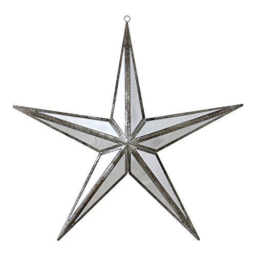 Northlight Beauty Mirrored Five Point Star Christmas Ornament, 11