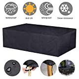 Fuloon Waterproof Patio Furniture Cover Large Outdoor Table Chair Sofa Covers 420D Oxford Cloth for Garden