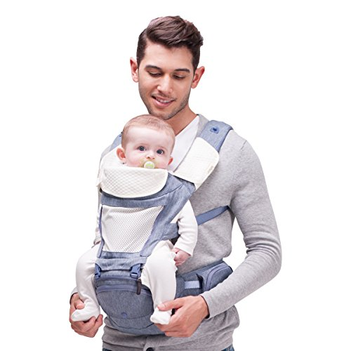 bebear Bebamour Ergonomic Baby Carrier Hip Seat All Seasons Baby Sling Backpack For Infant & Toddler (Purple)