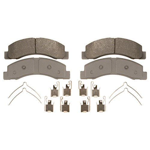 Ford F250 Brake Disc - Wagner ThermoQuiet QC756 Ceramic Disc Pad Set With Installation Hardware, Front