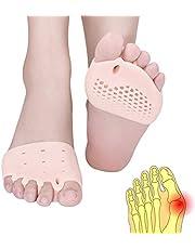 Metatarsal Pads, Toe Separator, Gel Metatarsal Cushion Toe Separators, (4 PCS) New Material Forefoot Pads, Toe Spacers,Breathable & Soft Gel, Best for Diabetic Feet, Blisters, Forefoot Pain.