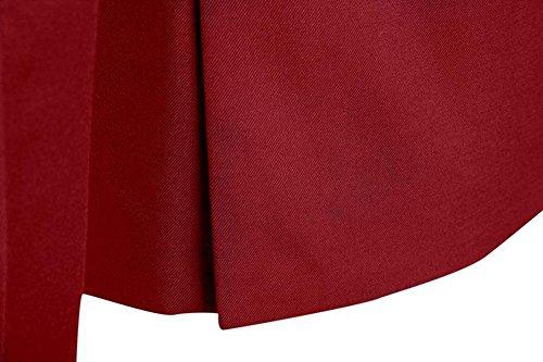 c98c4c37f3fc8 Zhuikun Hombre Con Rojo De Chaqueta 3 Para Y Chaleco Piezas Vino Traje  Pantalones XrqwgX