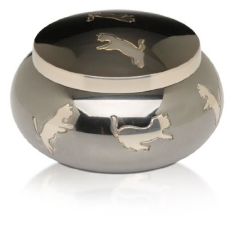Leaping Cats Urn Playful Design product image