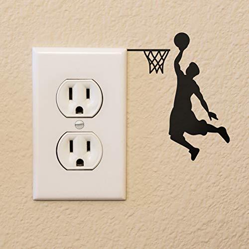 Vinyl Wall Art Decal - Basketball Player Hoop Dunk - 4