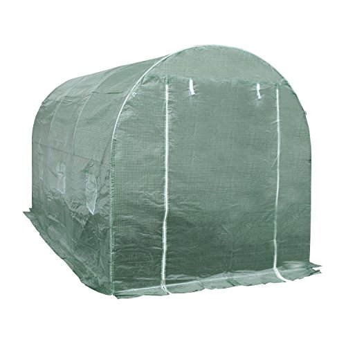 ALEKO® GHOT12X7X7 Large Poly-Tunnel Walk In Waterproof Plant Garden Outdoor Greenhouse Shed 12X7X7 Feet