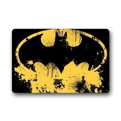 Batman logo Custom Doormat Non-woven Fabric Top (23.6